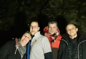 Professional spectre chasers, from left, Lisa Walker, Rob Murphy-Smith, David Walsh and Richard Murphy-Smith. NO F11 ghost hunting 01
