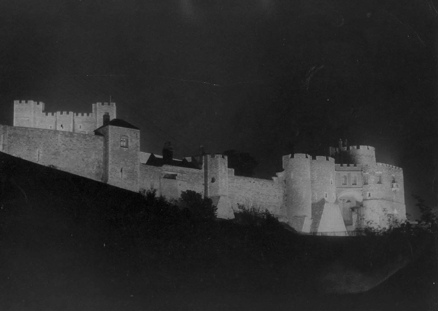 Dover Castle by night can be daunting