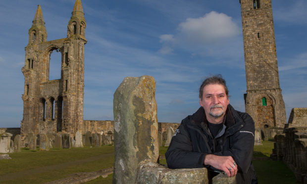 Richard Falconer, author and Ghost Tour operator at St Andrews Cathederal