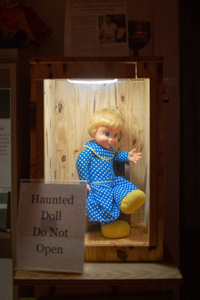 A haunted doll.