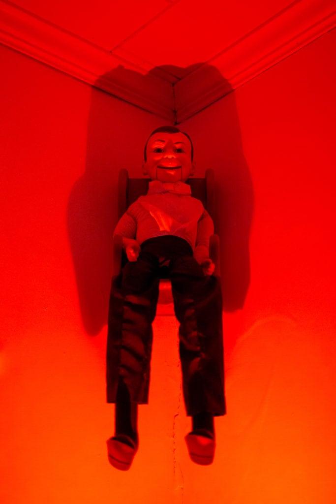 A ventriloquist doll.