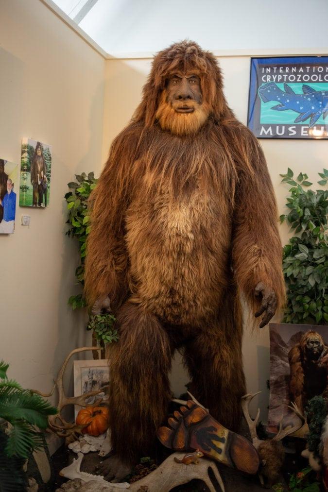 furry bigfoot statue