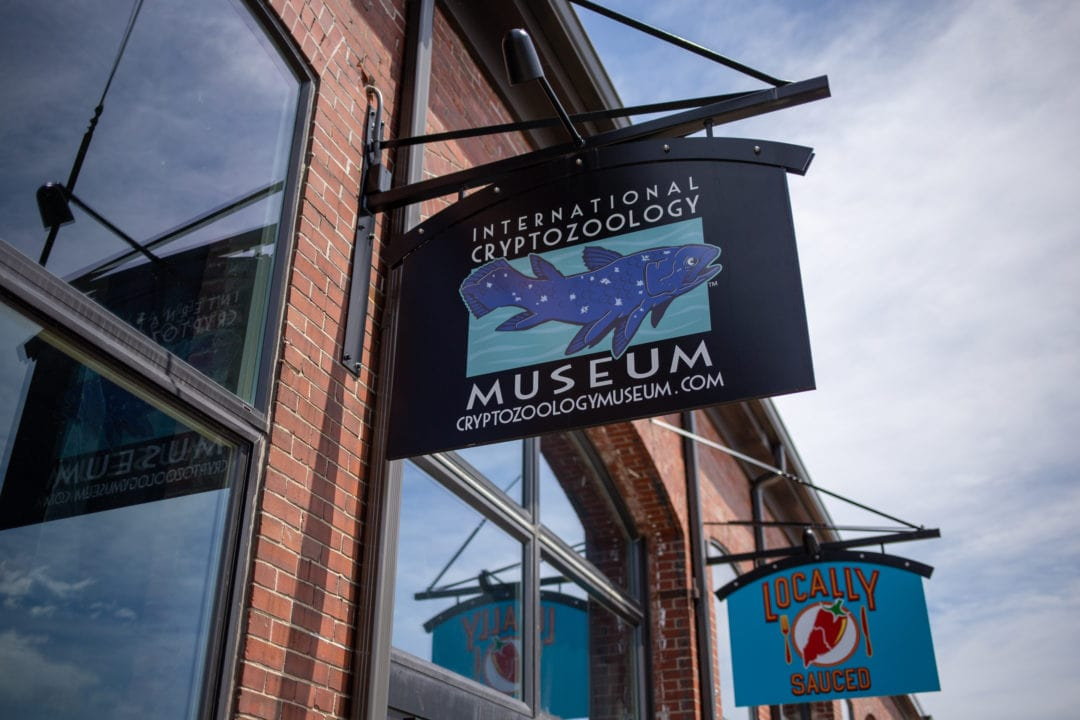 sign for the cryptozoology museum