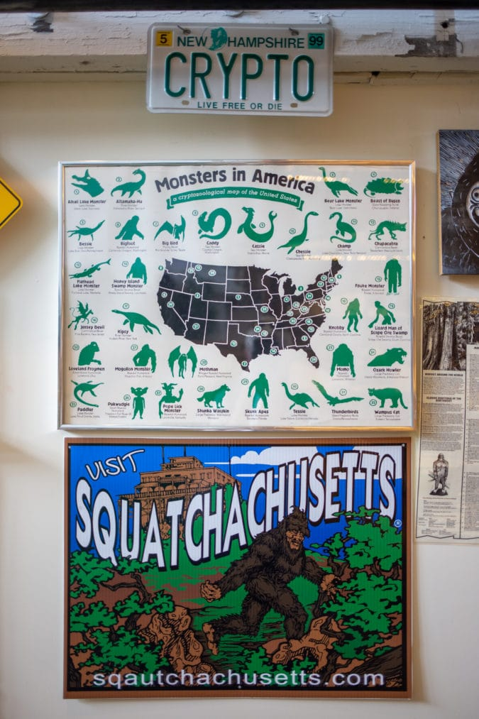 signs at the cryptozoology museum