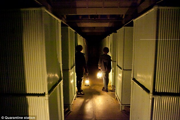 The 1st class shower block is said to be one of Quarantine Station's most haunted areas