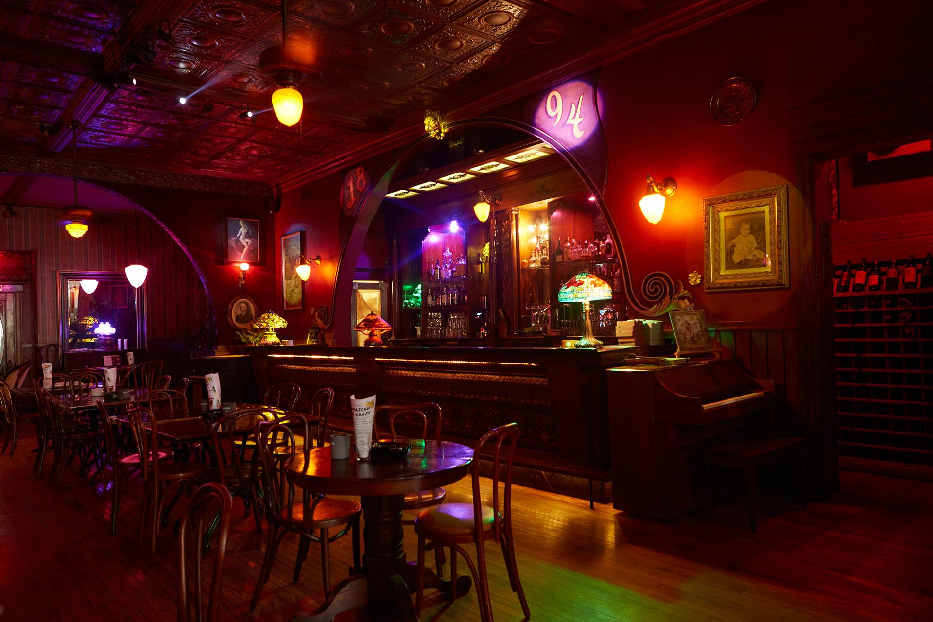 Inside Shaker's Cigar Bar