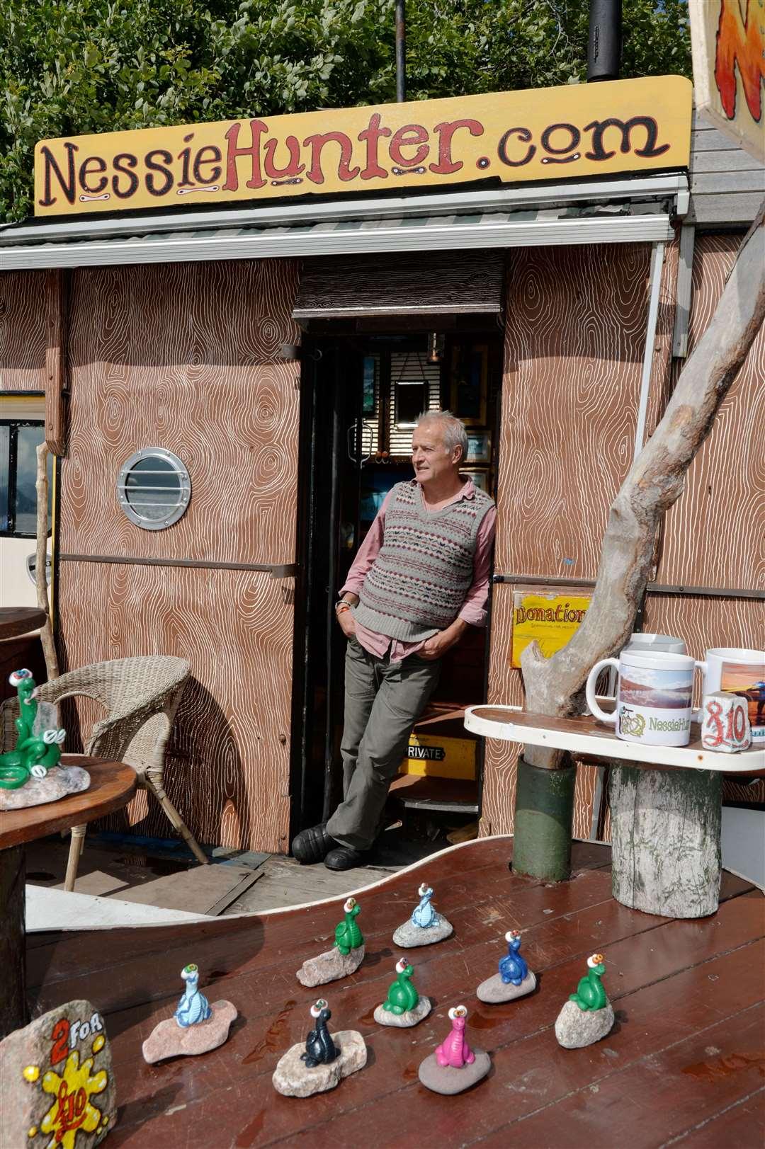 Steve Feltham at his base at Dores Beach.