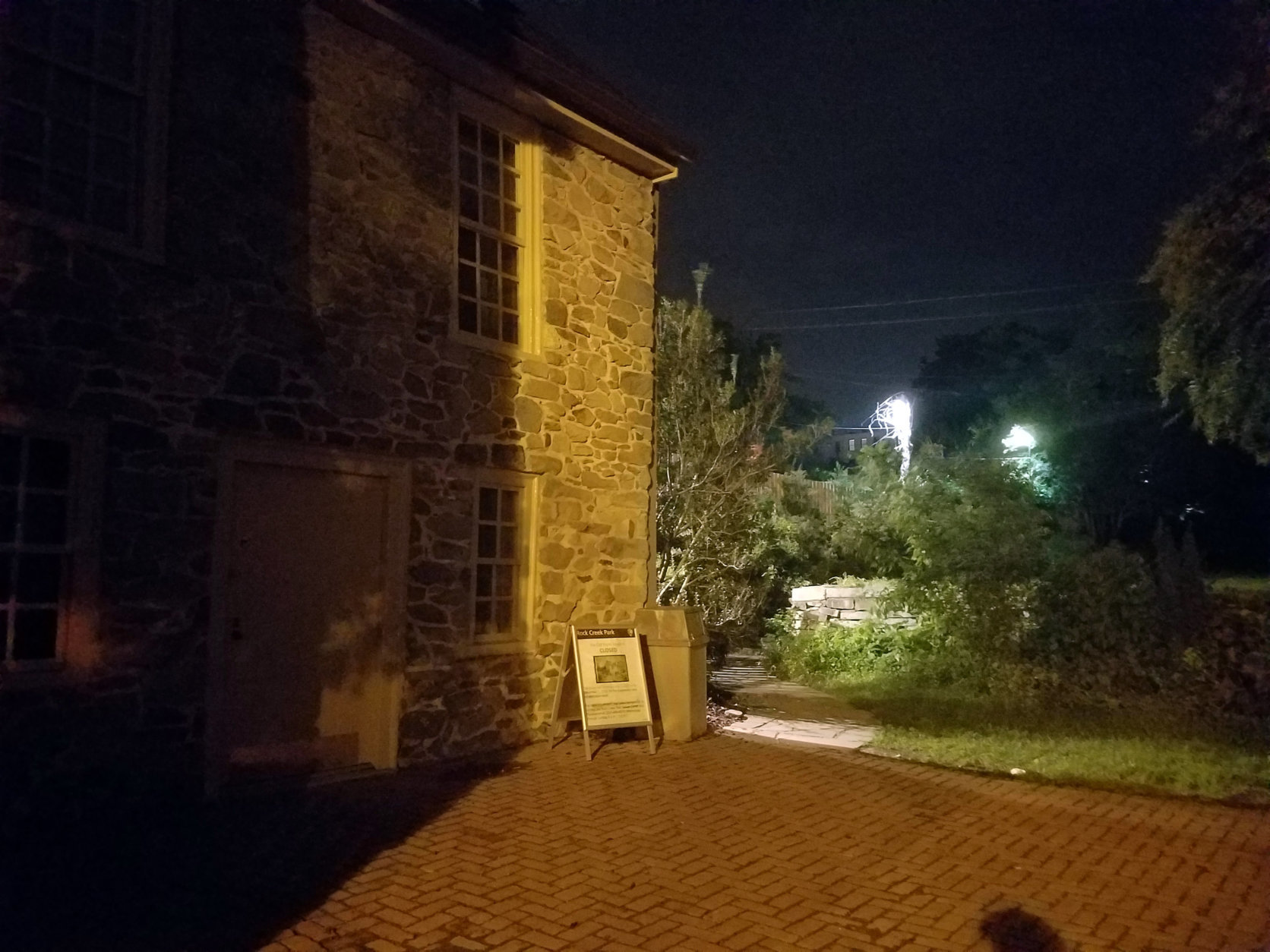 The Old Stone House has a garden area. (WTOP/Will Vitka)