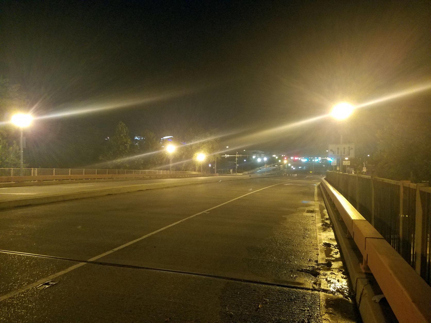 A headless man is said to appear on the K Street Bridge on starless nights. (WTOP/Will Vitka)