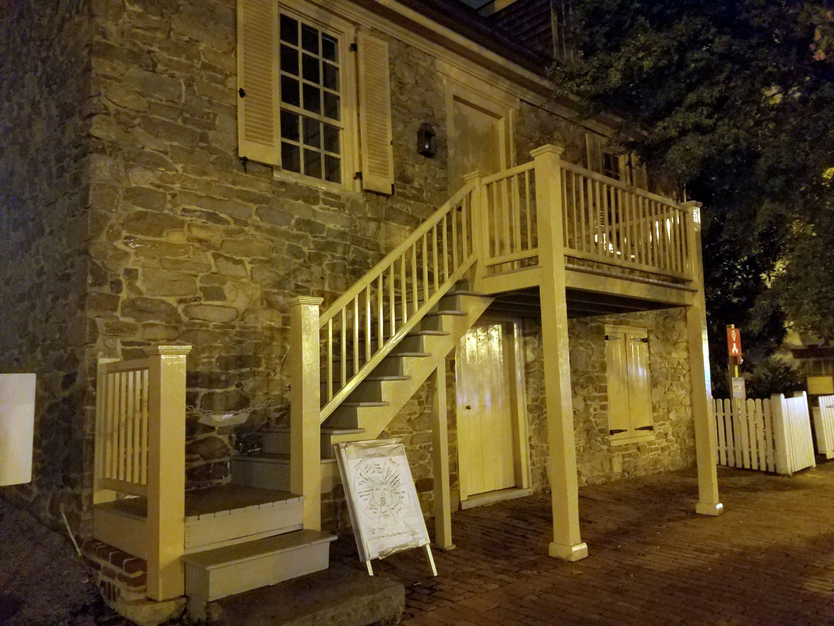 Multiple spirits are said to haunt the Old Stone House. (WTOP/Will Vitka)