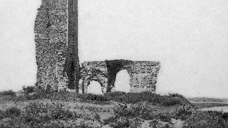All Saints Church in 1911 before being lost under the North Sea