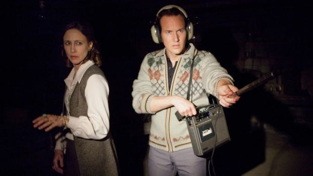 Vera Farmiga and Patrick Wilson as Lorraine and Ed Warren in The Conjuring: The Devil Made Me Do It.