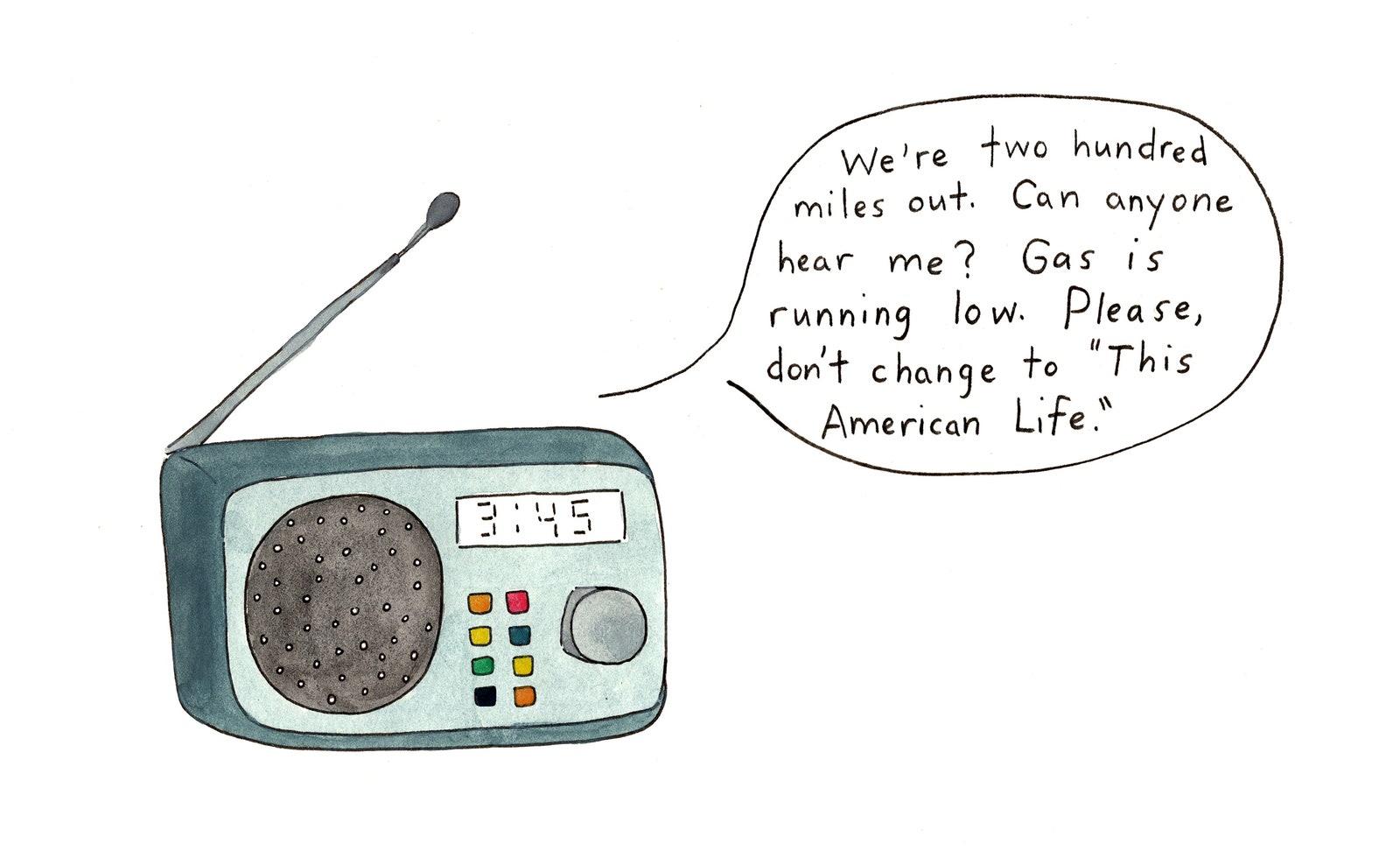 A radio relays a desperate message.