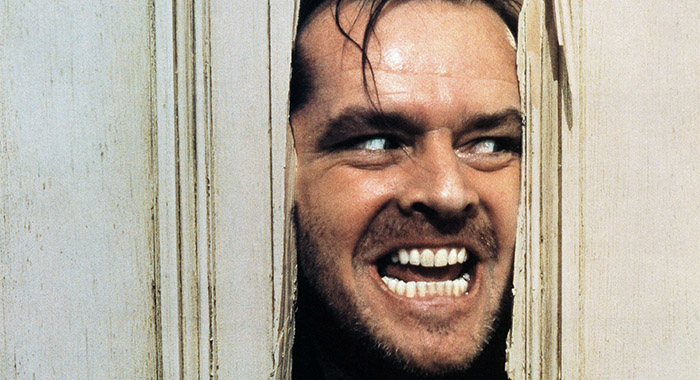 THE SHINING, Jack Nicholson, 1980.